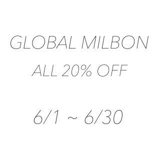 GLOBAL MILBON  ALL 20% OFF  キャンペーン