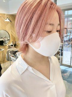 ブリーチあり◎透明感たっぷりピンク系カラー
